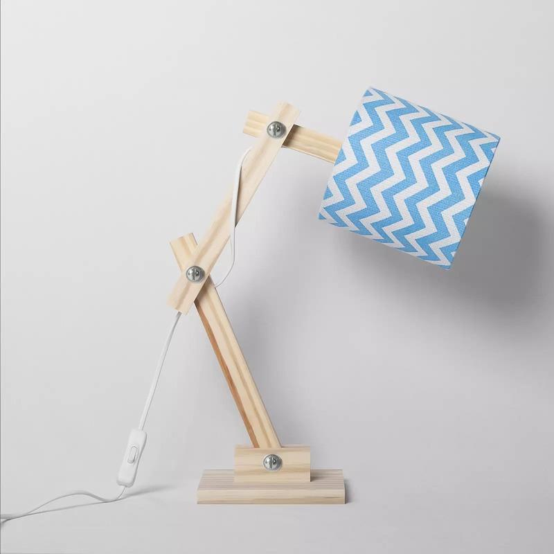 Luminária Articulada Carambola LARTCA Chevron 1L E27 Bivolt 400x150x370mm Azul