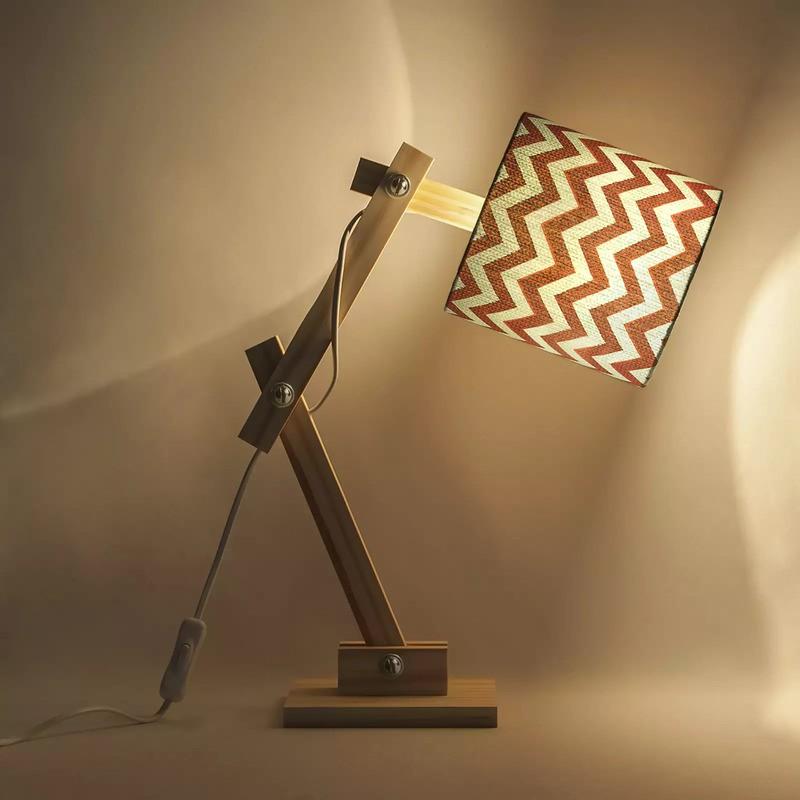 Luminária Articulada Carambola LARTCR Chevron 1L E27 Bivolt 400x150x370mm Rosa
