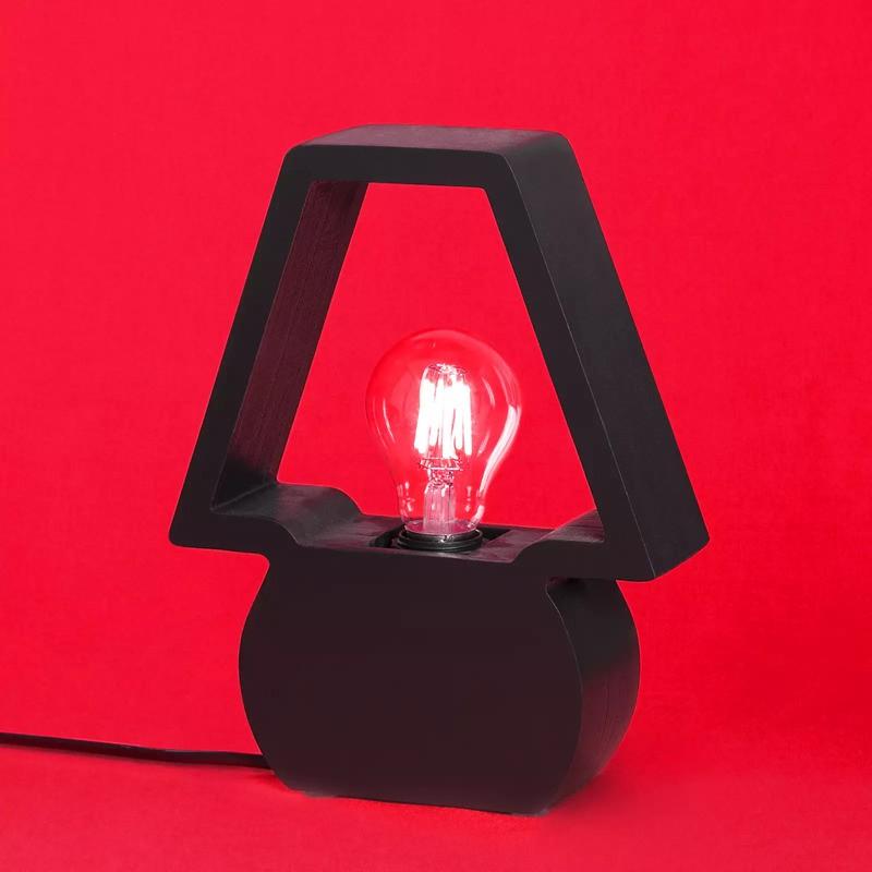 Luminária de Mesa Carambola AIC Icon 1L E27 Bivolt 250x200x60mm Preto