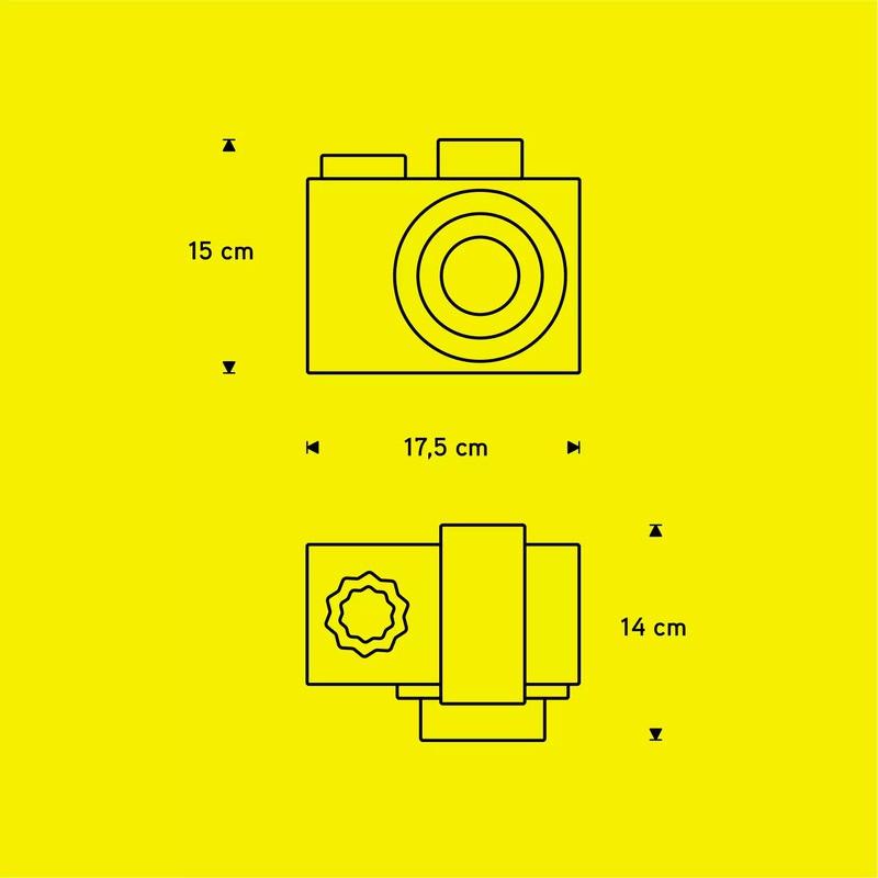 Luminária de Mesa Carambola LFH Flash 1L E27 Bivolt 145x180x150mm Preto