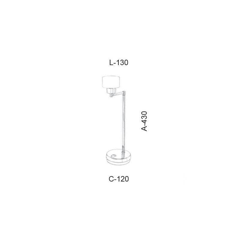 Luminária de Mesa Led Old Artisan ABJ-5390 5.5W 2700K 220V 430x130x120mm