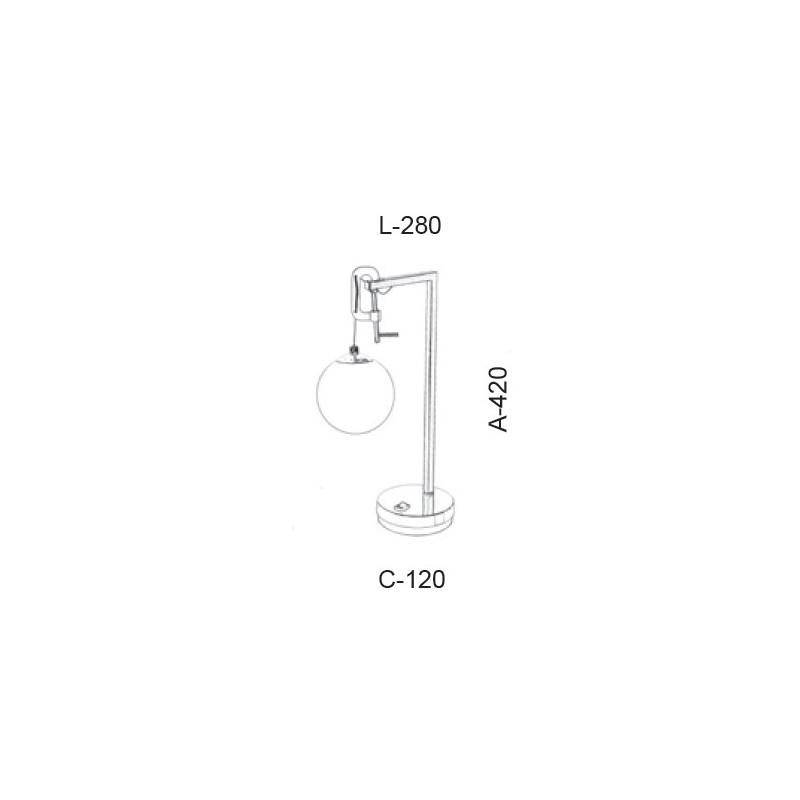 Luminária de Mesa Old Artisan ABJ-5425 1L Halopin G9 420x280x120mm