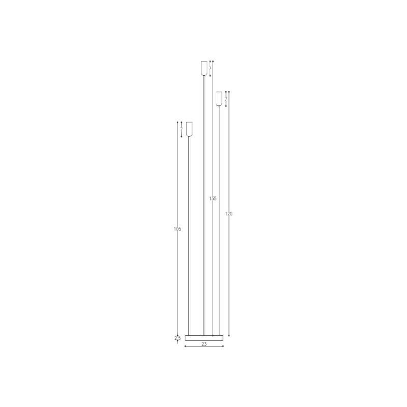Luminária de Piso DM Lumi 510/3 Joy 1L E27 1350x230x230mm
