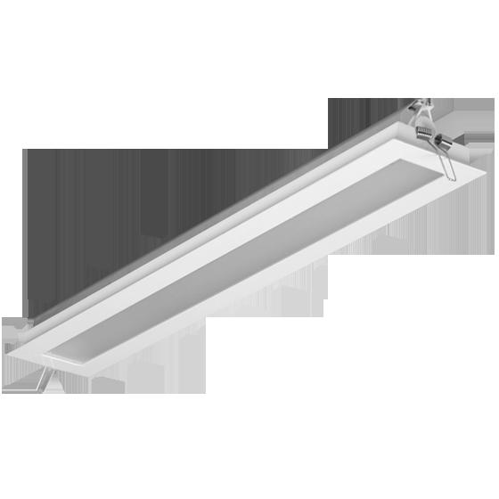 Luminária Embutir Incolustre 896.53 Slim 1L Tubular 1270x128x128mm