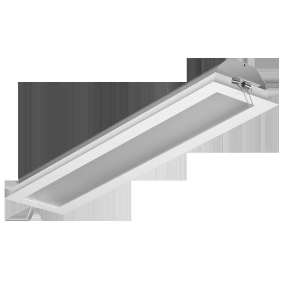 Luminária Embutir Incolustre 896.54 Slim 2L Tubular 1270x171x128mm