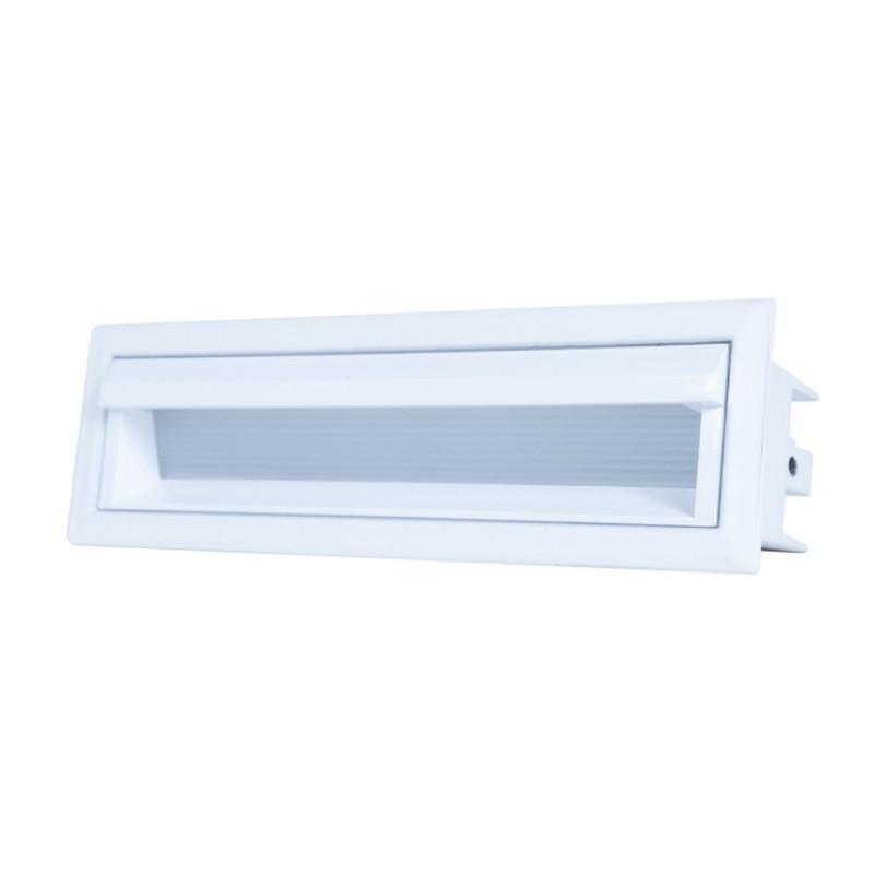 Luminária Embutir LED Brilia 303713 Wall Washer Linear Defletora 10W 2700K 30G Bivolt 159x45x68mm - Branco