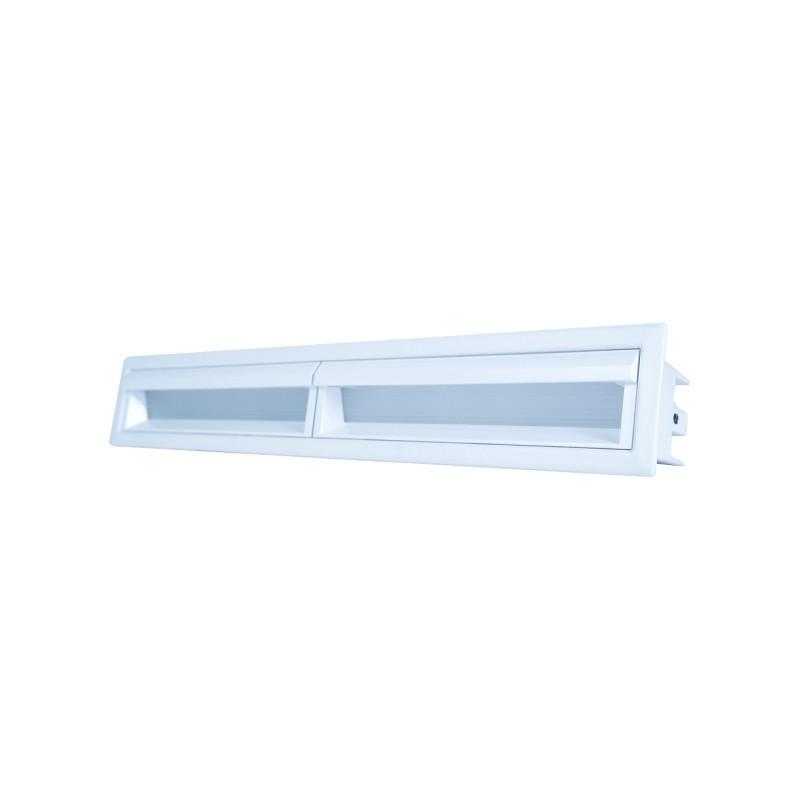 Luminária Embutir LED Brilia 303751 Wall Washer Linear Defletora 20W 2700K 30G Bivolt 295x45x68mm - Branco
