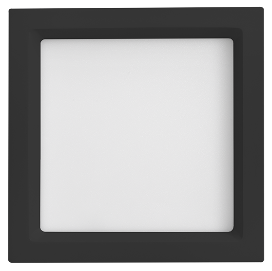 Luminária Embutir LED Save Energy SE-240.1667 Jet Black Recuada 25W 4000K Bivolt 300x300mm Preto