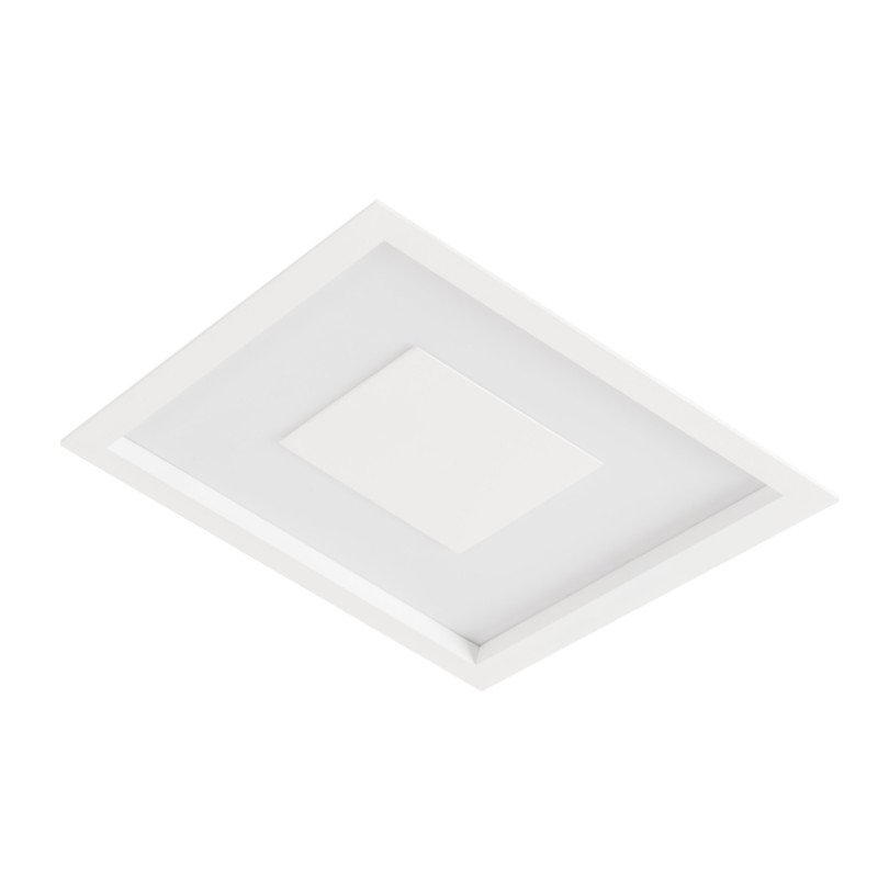 Luminária Embutir Led Usina 19300/38LED3 Dona 24,4W 3000K 380x380x75mm