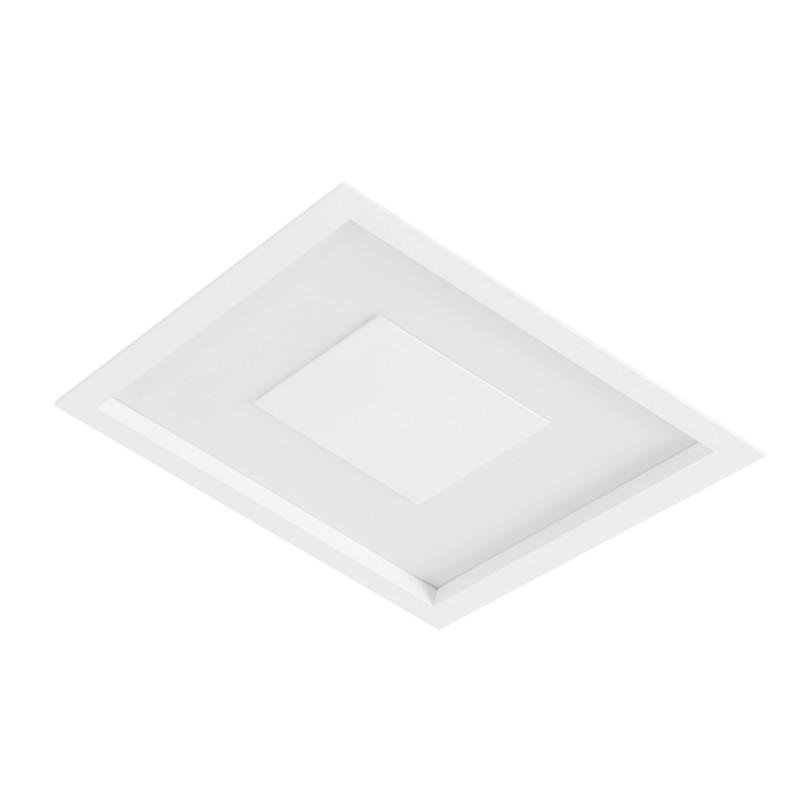 Luminária Embutir Led Usina 19300/50LED3 Dona 32,8W 3000K 500x500x75mm
