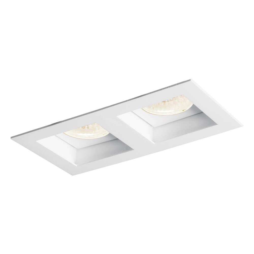 Luminária Embutir Spot Newline IN65022 Flat 2L Dicróica/PAR16 GU10 90x170x85mm