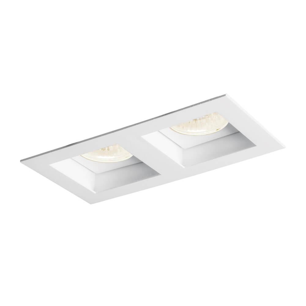 Luminária Embutir Spot Newline IN65023 Flat 2L PAR20 E27 210x110x130mm