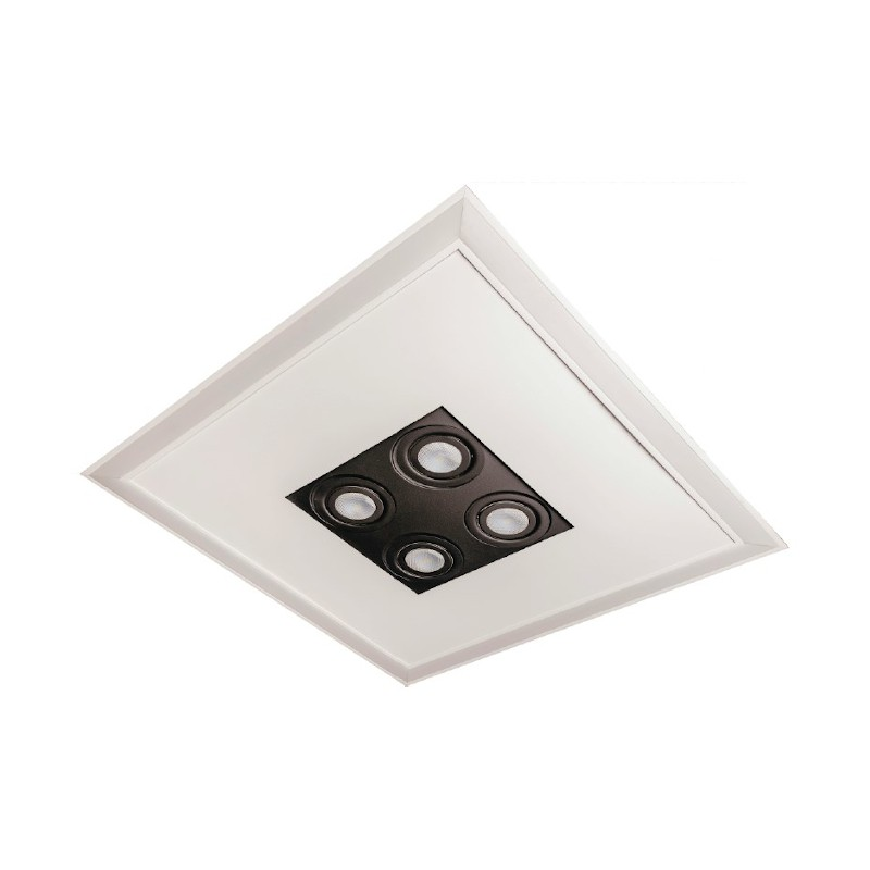 Luminária Embutir Usina 19202/62LED4 Bore Pro Led Integrado 49,2W 4000K 4L PAR20 Bivolt 620x620x110mm