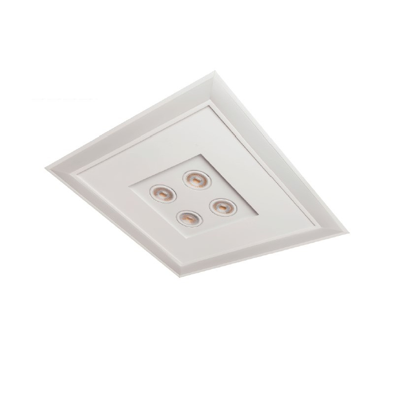 Luminária Embutir Usina 19203/62LED3 Bore Pro Led Integrado 49,2W 3000K 4L AR70 Bivolt 620x620x90mm