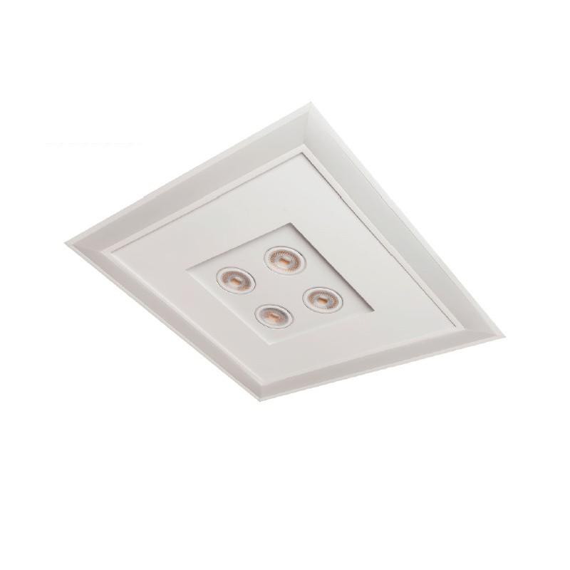 Luminária Embutir Usina 19203/62LED4 Bore Pro Led Integrado 49,2W 4000K 4L AR70 Bivolt 620x620x90mm