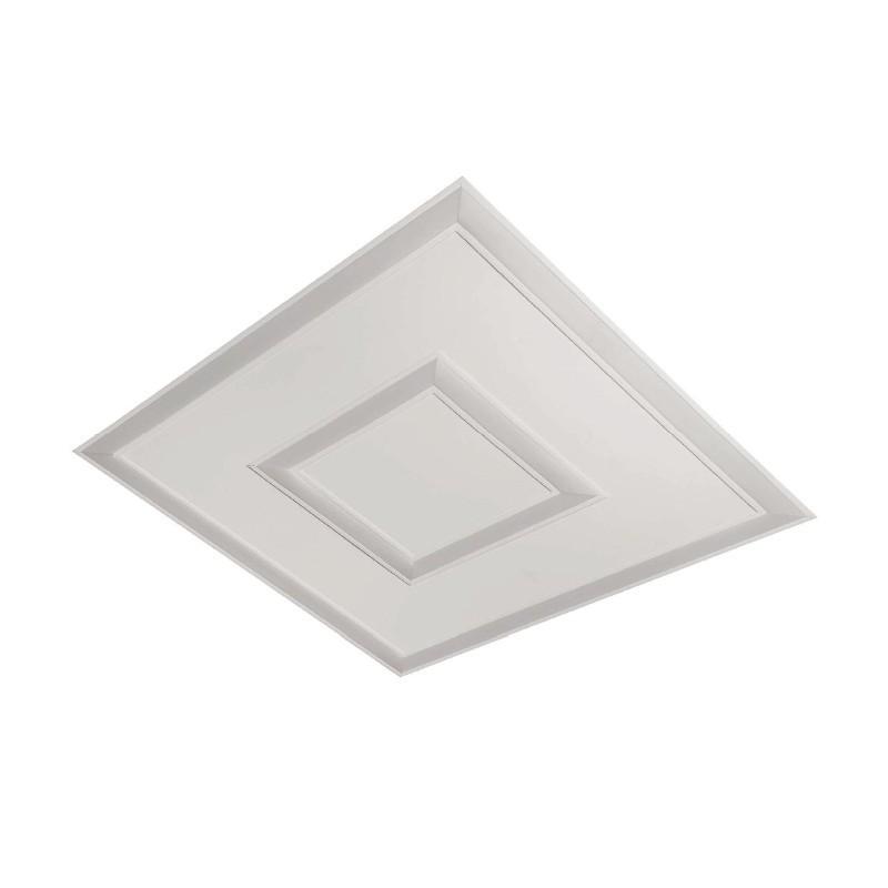 Luminária Embutir Usina 19221/62LED3 Covert Pro Led Integrado 73,6W 3000K Bivolt 620x620x50mm