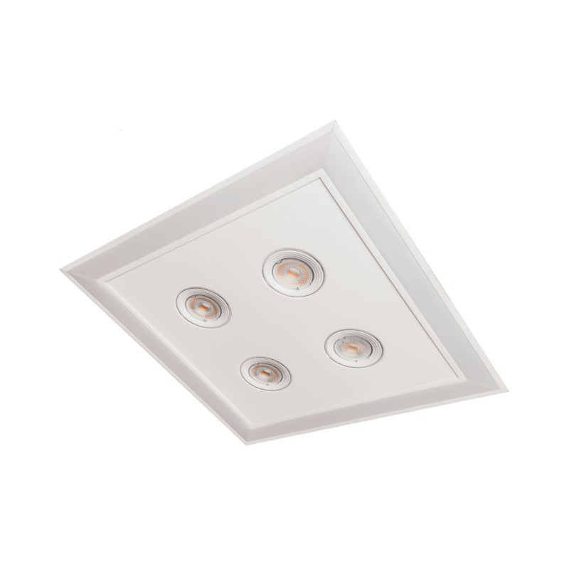 Luminária Embutir Usina 19231/42LED3 Scala Pro Led Integrado 36,8W 3000K 4L MR16 Bivolt 420x420x110mm