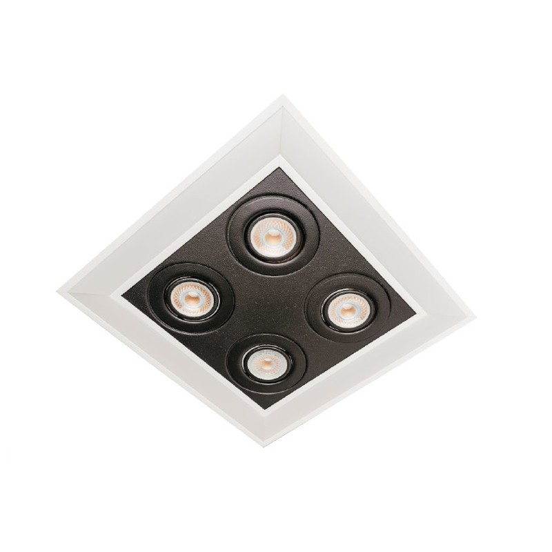 Luminária Embutir Usina 19252/42LED4 Premium Pro Led Integrado 36,8W 4000K 4L PAR20 Bivolt 420x420x50mm
