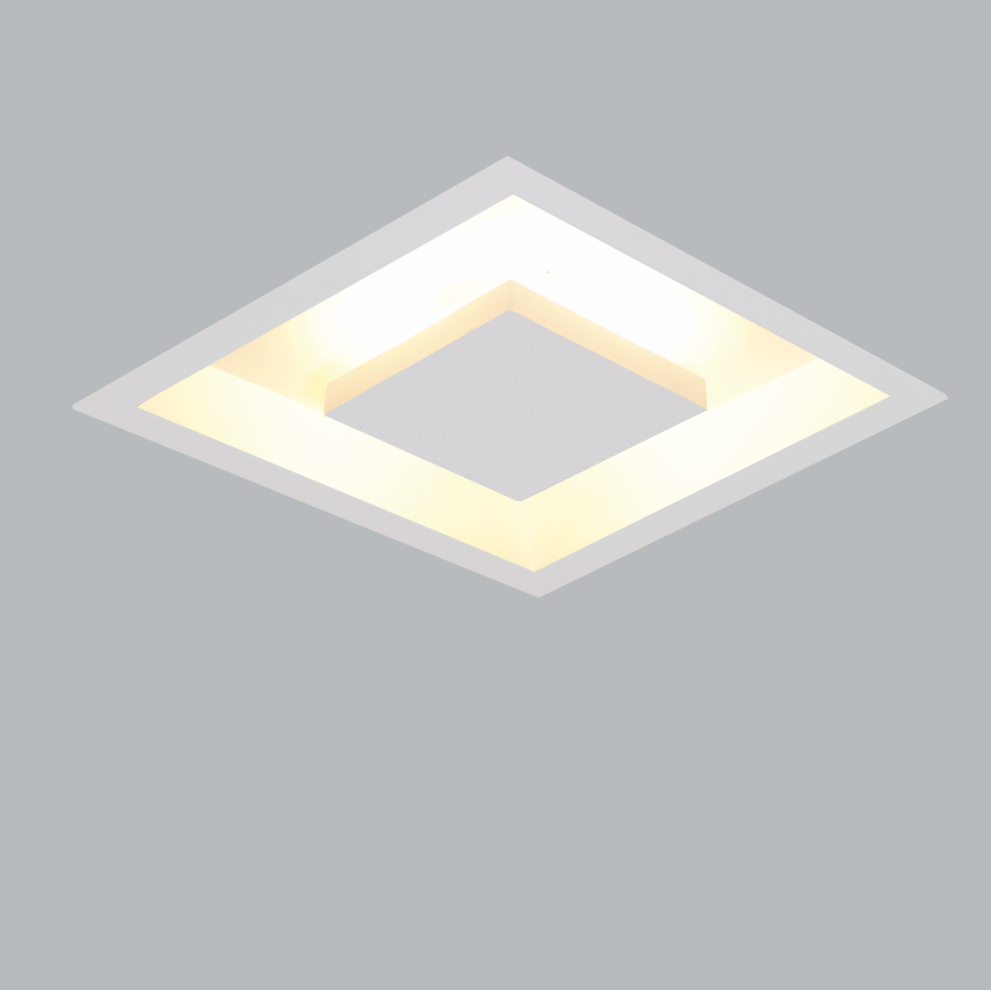 Luminária Embutir Usina 250/5E Home 4L Mini Bulbo E27 500x500mm