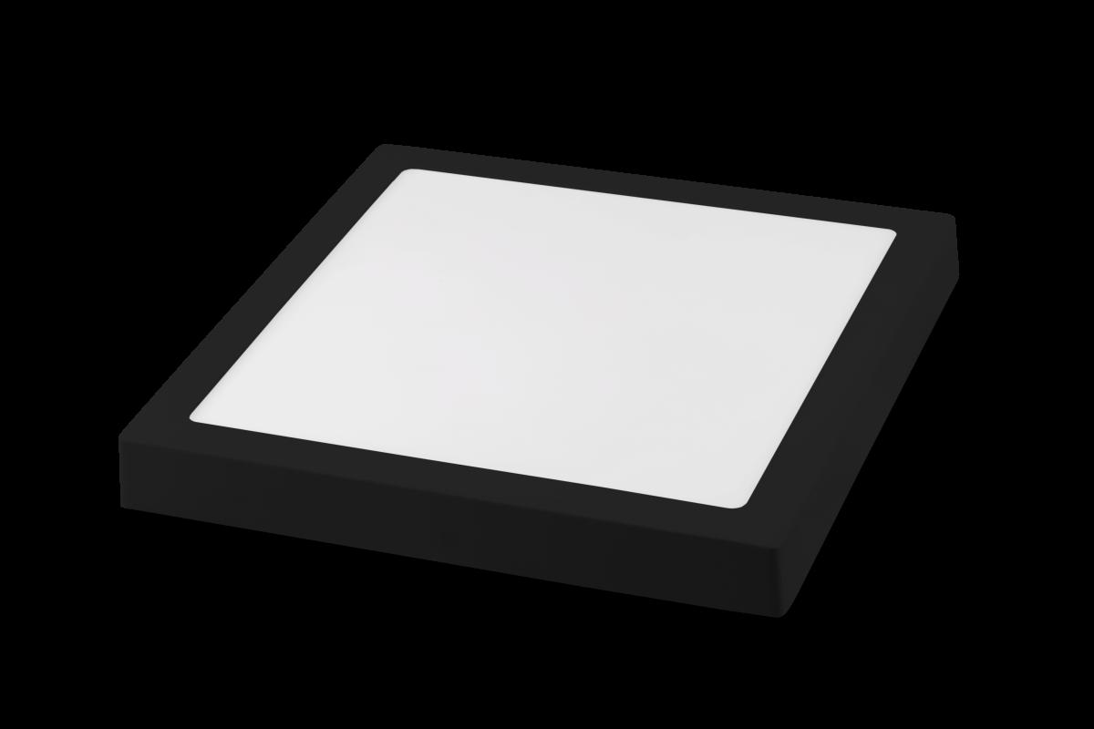 Luminária LED Plafon Save Energy SE-240.1617 Jet Black 20W 4000K Bivolt 225x225mm Preto