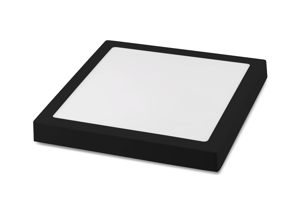 Luminária Sobrepor LED Save Energy SE-240.1636 Jet Black 12W 5700K Bivolt 170x170mm Preto