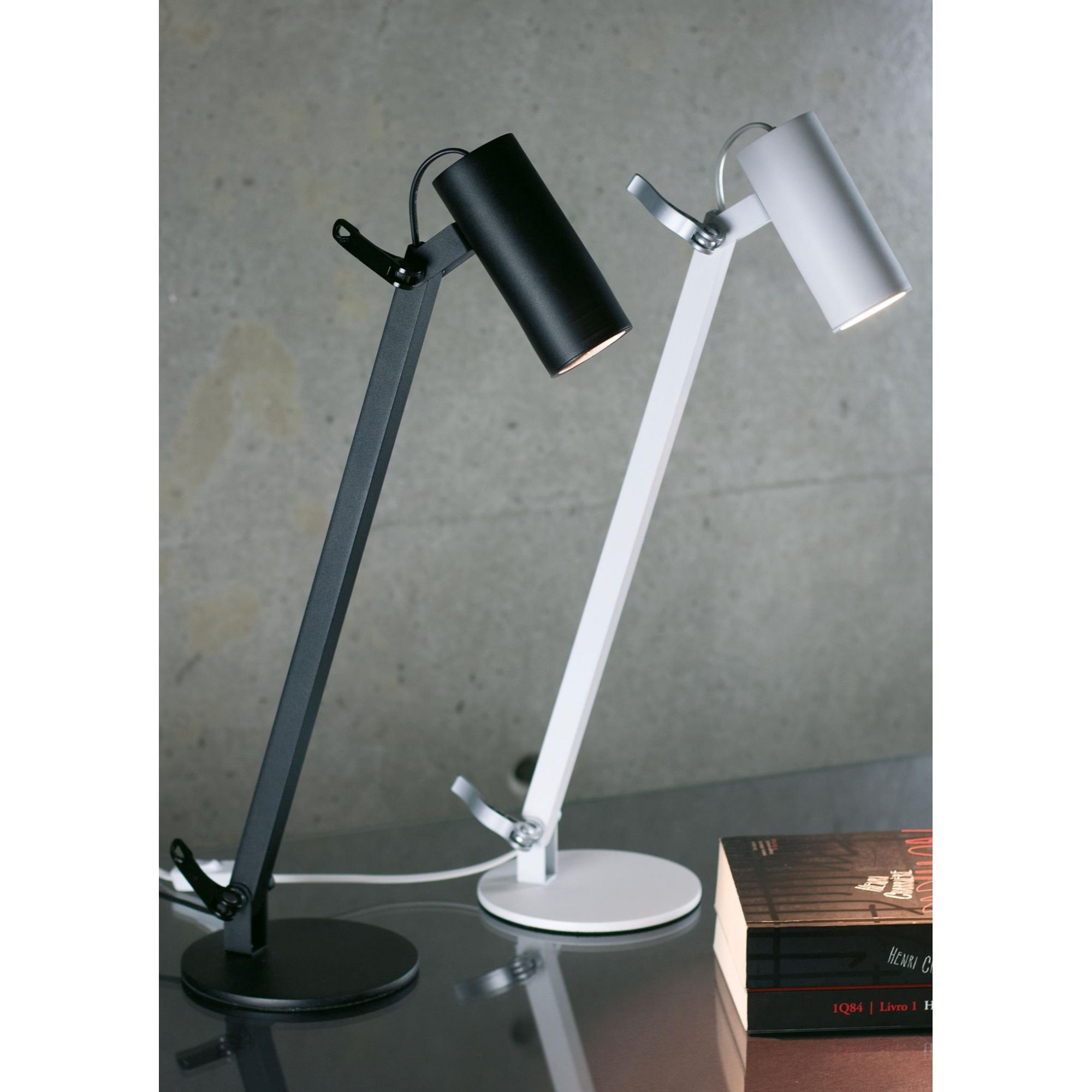 Luminária Mesa Newline 222 Lisse 1L Mini Dicróica GU10 150x360x580mm
