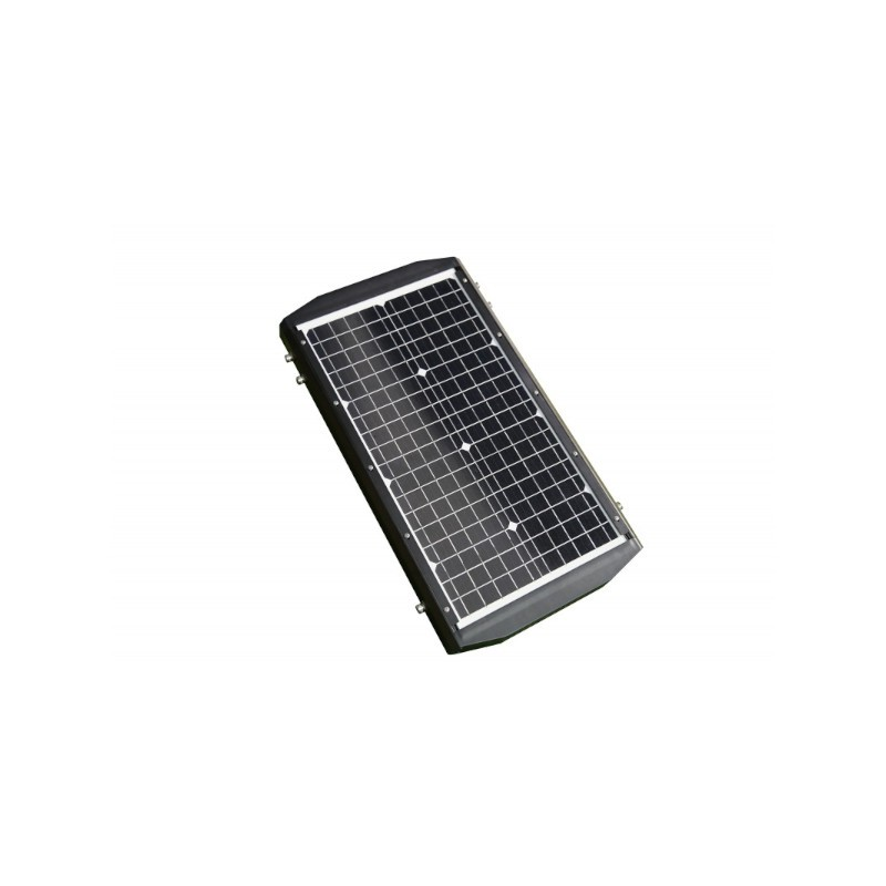 Luminária para Poste LED Ecoforce 18477 Solar 60W 6500K IP65 Bivolt 243x711x386mm