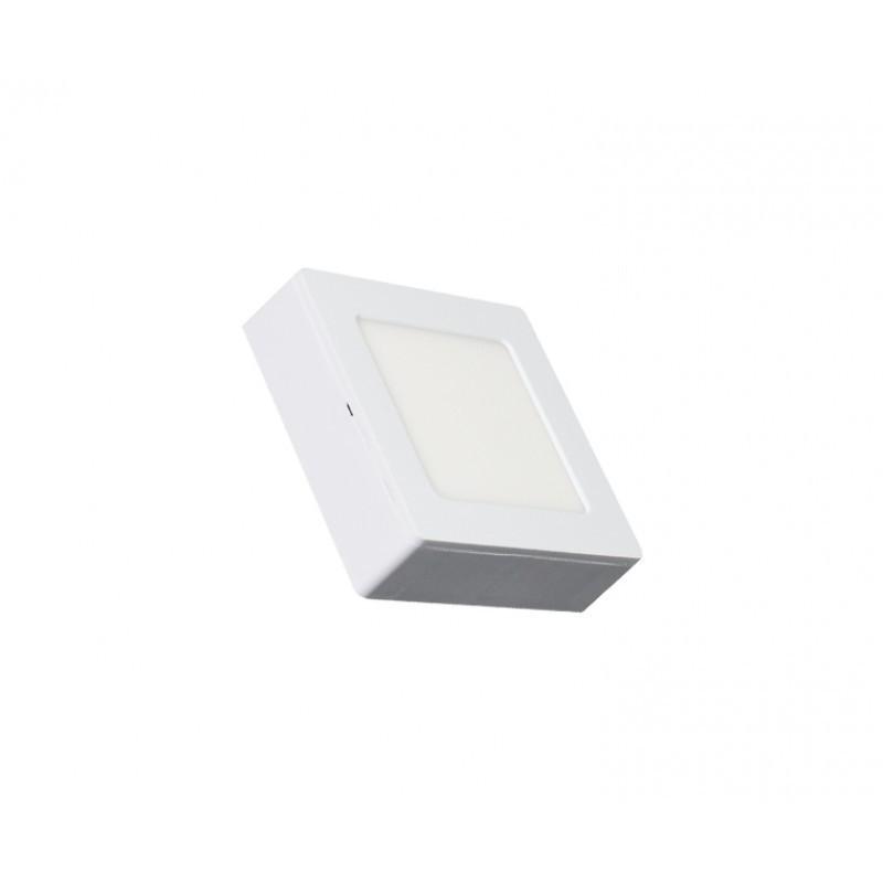 Luminária Sobrepor LED Ecoforce 17291 Quadrado 6W 3000K IP20 Bivolt 120x120x34mm