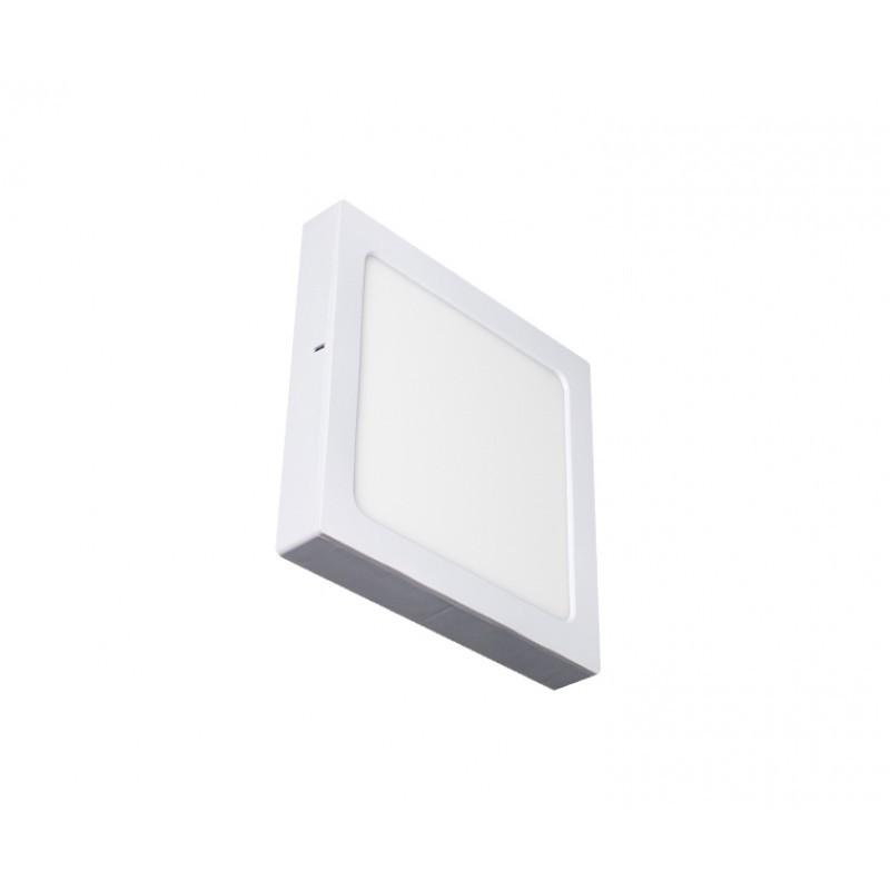 Luminária Sobrepor LED Ecoforce 17293 Quadrado 18W 3000K IP20 Bivolt 225x225x34mm
