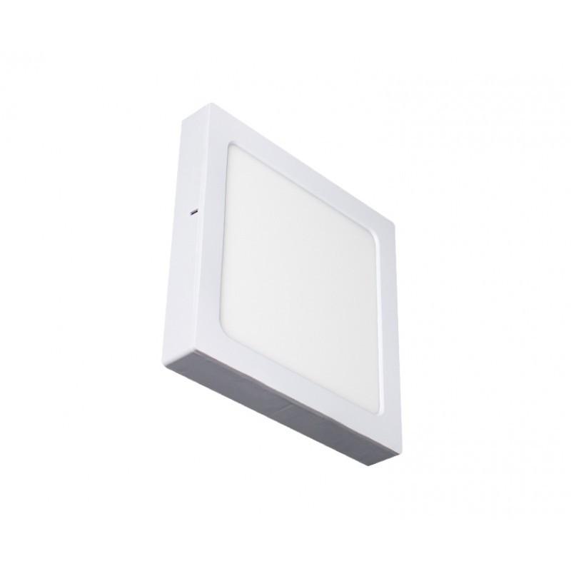 Luminária Sobrepor LED Ecoforce 17294 Quadrado 24W 3000K IP20 Bivolt 295x295x34mm