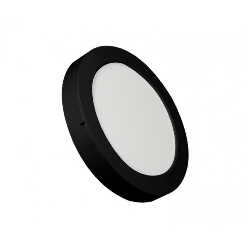 Luminária Sobrepor LED Ecoforce 18342 Redondo 24W 6500K IP20 Bivolt Ø295x34mm Preto