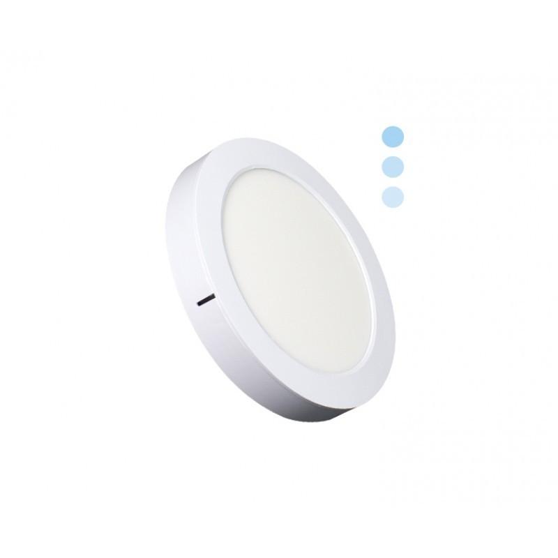 Luminária Sobrepor LED Ecoforce 18443 Redondo Dimerizável 16W 6000K Bivolt IP20 Ø225x34mm