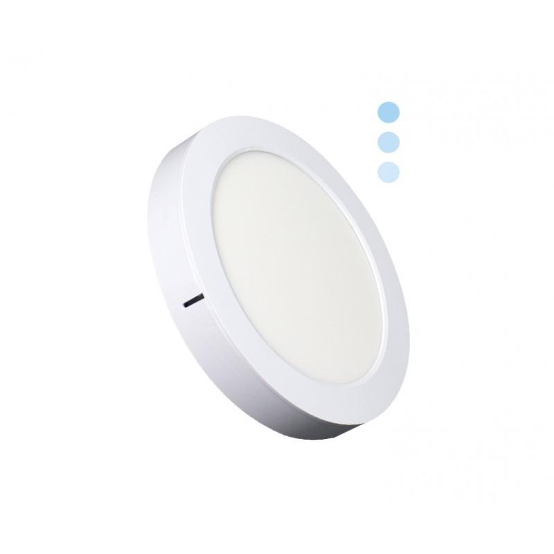 Luminária Sobrepor LED Ecoforce 18444 Redondo Dimerizável 22W 6000K Bivolt IP20 Ø295x34mm