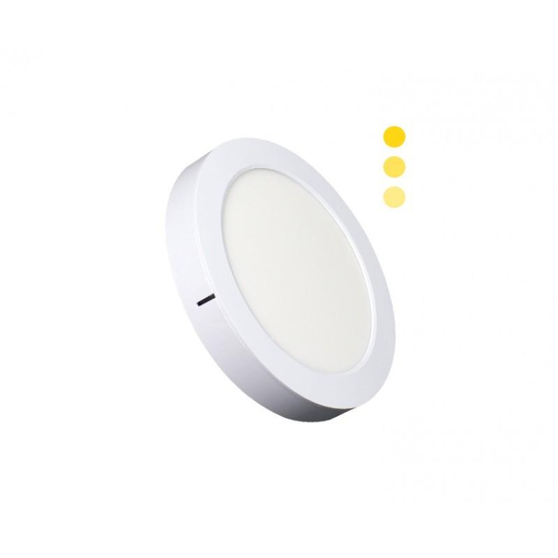 Luminária Sobrepor LED Ecoforce 18447 Redondo Dimerizável 16W 3000K IP20 Bivolt Ø225x34mm