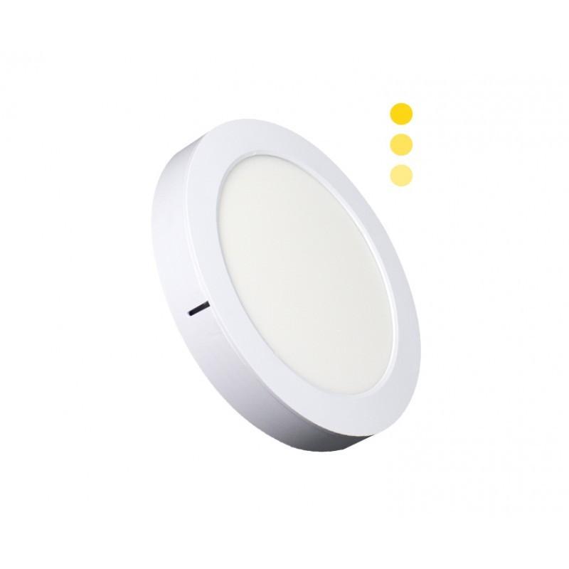 Luminária Sobrepor LED Ecoforce 18448 Redondo Dimerizável 22W 3000K Bivolt IP20 Ø295x34mm