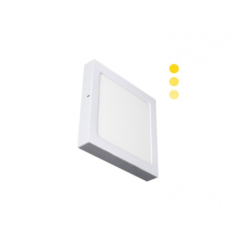 Luminária Sobrepor LED Ecoforce 18449 Quadrado Dimerizável 16W 3000K IP20 Bivolt 225x225x34mm