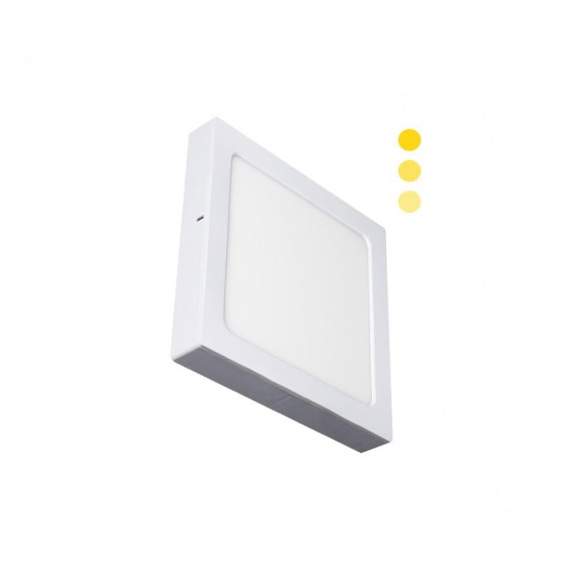 Luminária Sobrepor LED Ecoforce 18450 Quadrado Dimerizável 22W 3000K Bivolt IP20 295x295x34mm
