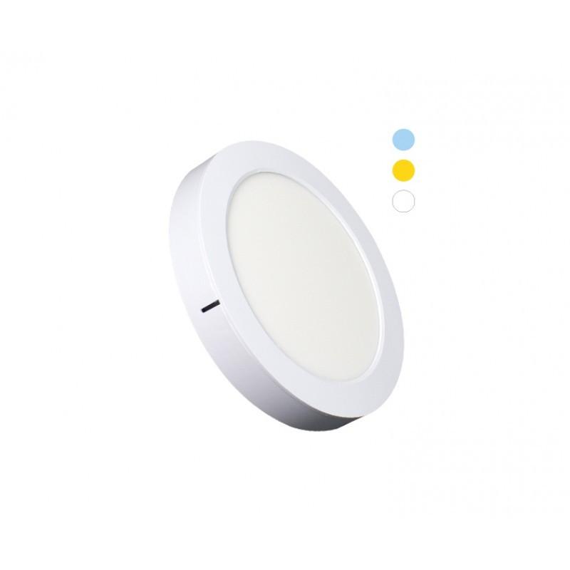 Luminária Sobrepor LED Ecoforce 18451 Redondo Dimerizável 16W IP20 Bivolt Ø225x34mm