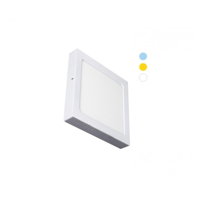 Luminária Sobrepor LED Ecoforce 18453 Quadrado Dimerizável 16W IP20 Bivolt 225x225x34mm