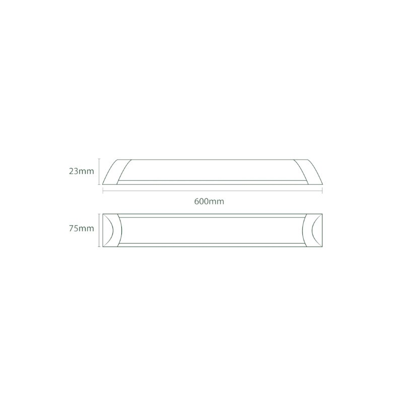 Luminária Sobrepor LED Ecoforce 18530 Linear 18W 6000K IP20 Bivolt 75x23x600mm