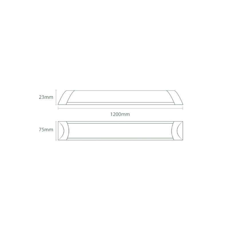 Luminária Sobrepor LED Ecoforce 18531 Linear 36W 6000K IP20 Bivolt 75x23x1200mm