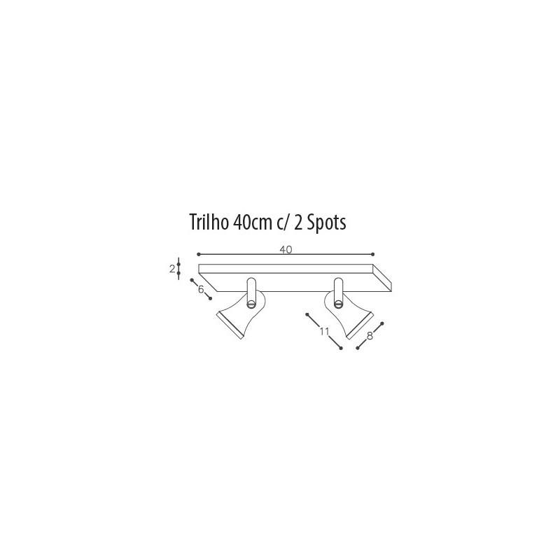 Luminária Trilho DM Lumi 650/2 Sino 2L E27