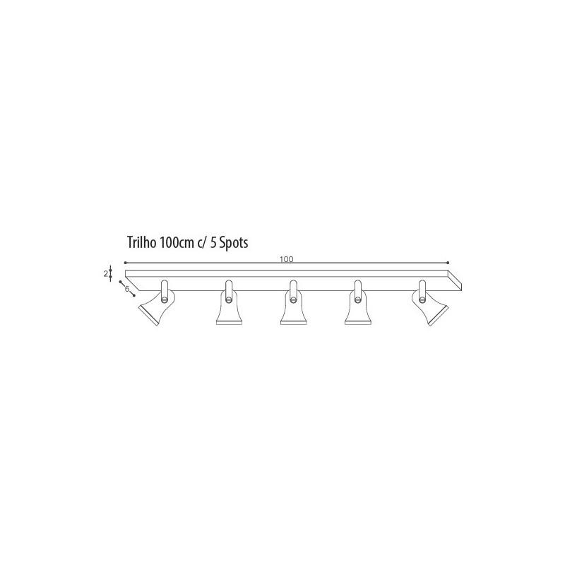 Luminária Trilho DM Lumi 651/5 Taça 5L E27