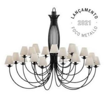 Lustre Foco Metallo LU400/24 Puntas 24L E27 Bulbo LED 1550x1740Ømm