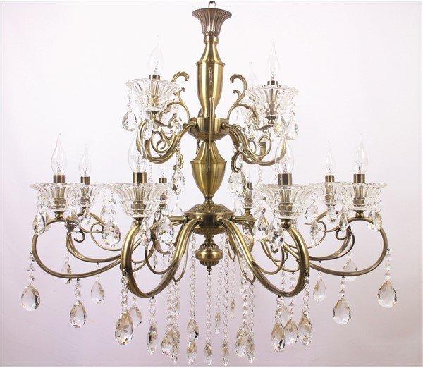 Lustre Tupiara 8-2212-OV-CT Moscow 12L E14 Ø830x860mm Ouro Velho/Transparente