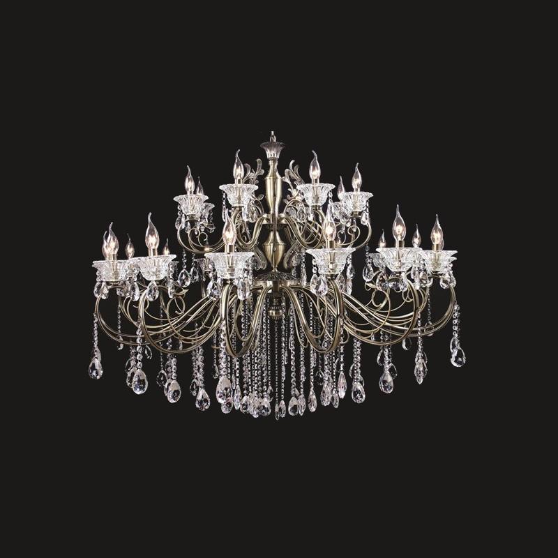 Lustre Tupiara 8-2224-OV-CT Moscow 24L E14 Ø1320x920mm Ouro Velho/Transparente