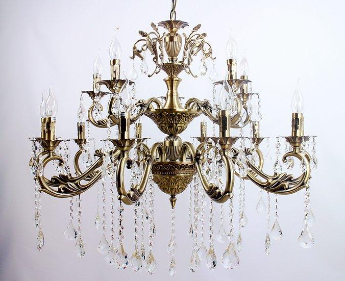 Lustre Tupiara 9215-OV-CT Blair 15L E14 Ø790x790mm Ouro Velho/Transparente