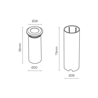 Mini Balizador LED Romalux 10048 0,4W 2700K IP66 Bivolt Ø26x79mm Branco