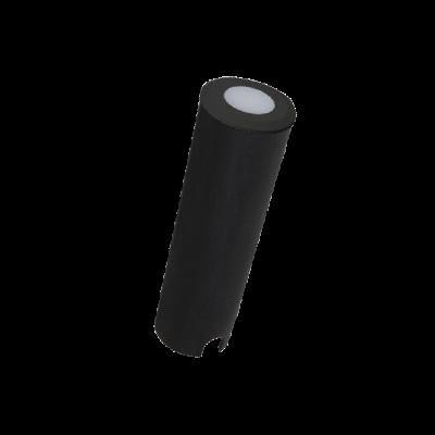 Mini Balizador LED Romalux 10049 0,4W 2700K IP66 Bivolt Ø26x79mm Preto