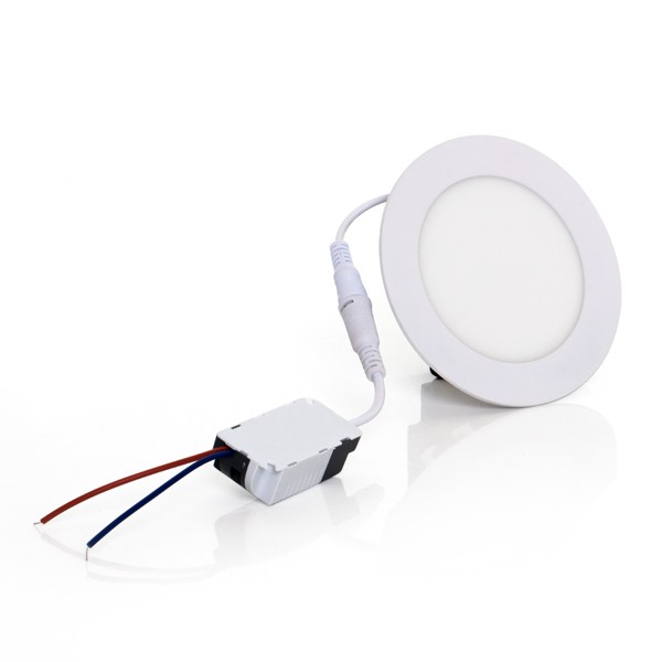 Painel Embutir LED Redondo Gaya 9906 6W 6000K IP20 Bivolt Ø110mm